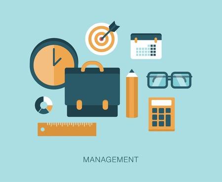 modern vector management concept illustration
