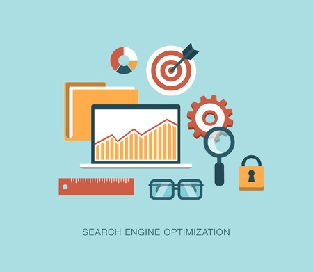 listing: modern vector search engine optimization concept illustration