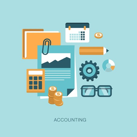 counting money: accounting concept illustration Illustration