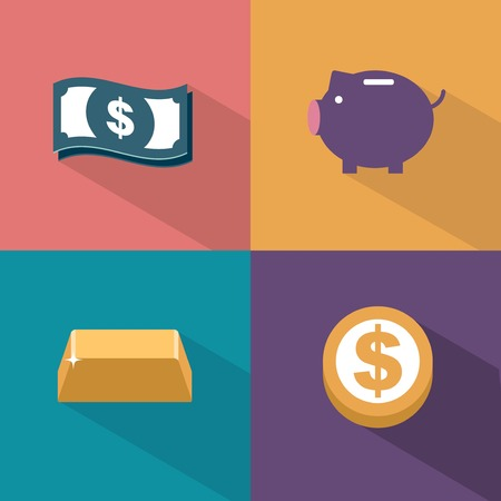 money savings: vector money icons