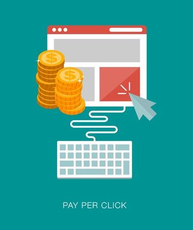 per: pay per click concept illustration