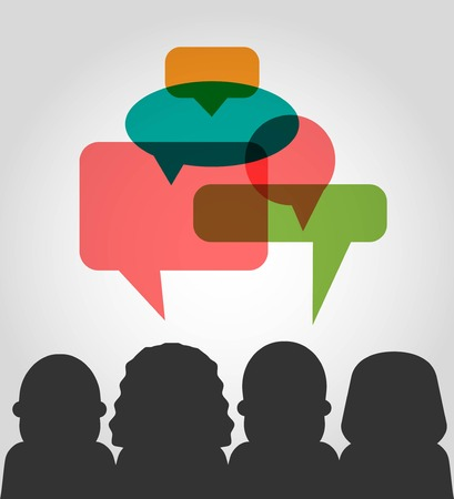 public opinion: vector customer testimonials concept illustration Illustration