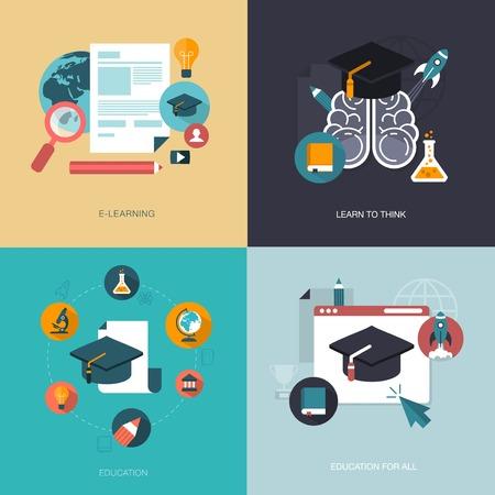 vector set van onderwijs banners