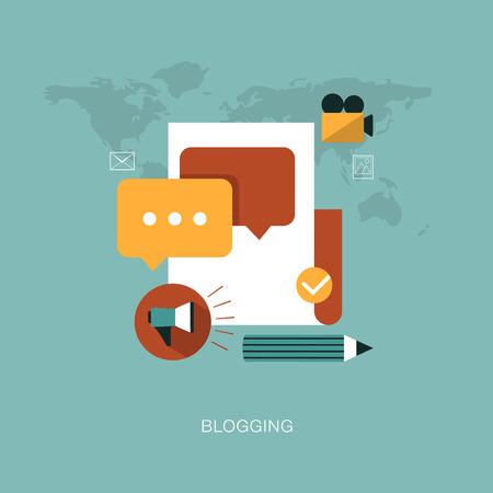 vector modern blogging concept illustration Illustration