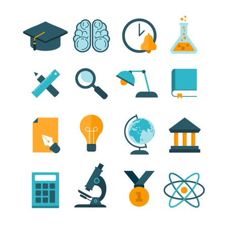 assimilation: set of modern vector education icons
