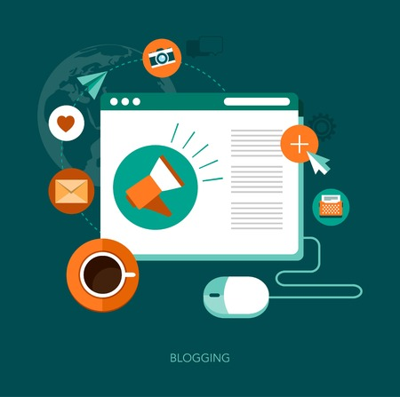 article writing: vector blogging concept illustration
