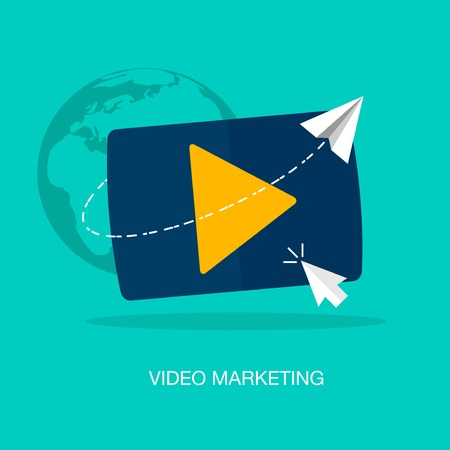 video icons: vector modern video marketing concept illustration