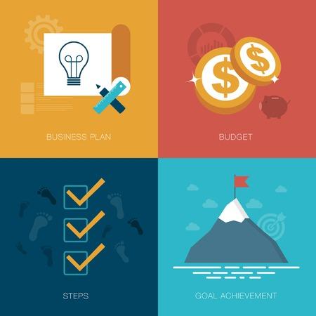 business success concept: vector business success concept illustration