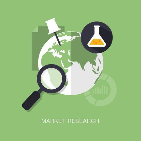 marktforschung: Vektor modernen Marktforschung Konzept Illustration