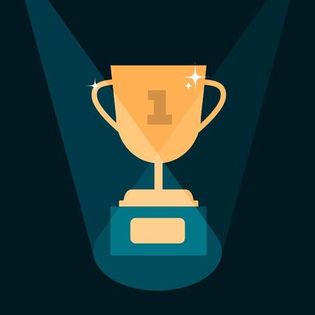 affirmation: vector modern trophy illustration