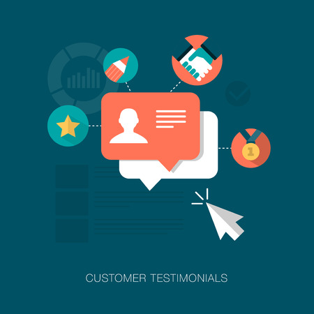 vector customer testimonials concept illustration Çizim