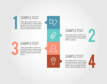 steps infographic isolated on white background,illustration Illustration
