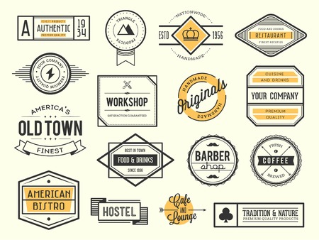 set of vintage icon, badges and labels