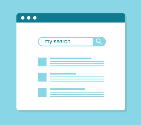 icons site search: concept of using web search, vector illustration Illustration