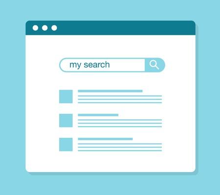 Koncepcja za pomocą wyszukiwarki internetowej, ilustracji wektorowych