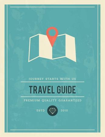 travel guide: vintage poster for travel guide, vector illustration