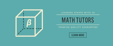 trigonometry: vintage banner for math tutors, vector illustration Illustration