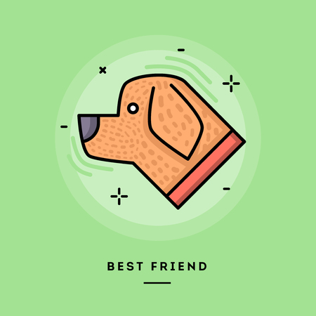 Best friend, flat design thin line banner, usage for e-mail newsletters, web banners, headers, blog posts, print and more