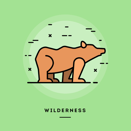 wilderness: Wilderness, flat design thin line banner, usage for e-mail newsletters, web banners, headers, blog posts, print and more