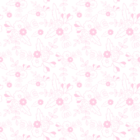 Beautiful floral seamless pattern. Perfect for textile, wrapping, web and all kind of decorative projects. Vector illustration. Vector illustration. Illustration