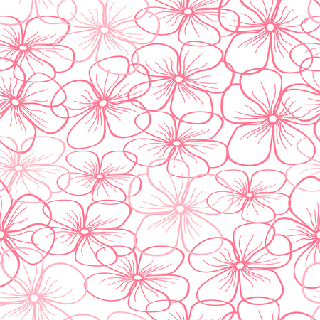 Beautiful floral seamless pattern on a white background. Perfect for textile, wrapping, web and all kind of decorative projects. Vector illustration.