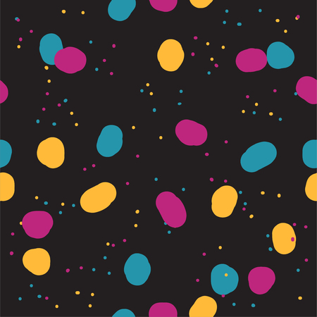 Beautiful abstract seamless repeating pattern. Hand painted artistic style with chaotic paint elements. Perfect for textile, wrapping, web and all kind of decorative projects. Vector illustration. Illusztráció