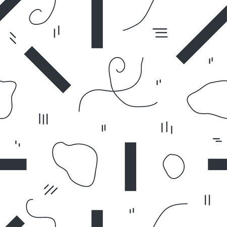 Unique abstract seamless repeating pattern. Geometric and hand drawn elements. Modern style. Perfect for textile, wrapping, print, web and all kinds of decorative projects. Vector illustration. 写真素材 - 109716849
