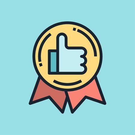 Social Proof. Digital marketing concept illustration, flat design linear style banner.