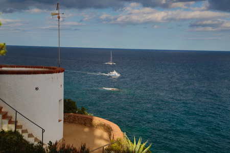turism: Views to the sea. Costa Brava Spain.