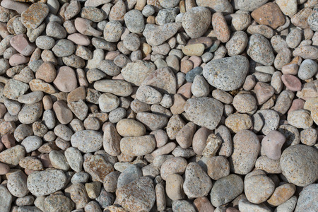 pebblestone: Pebblestone background. Mediterranean Spain. Stock Photo
