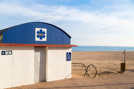 handicapped accessible: SOS station Handicapped Accessible on the beach