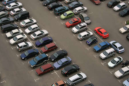 car park: Full car parking Stock Photo