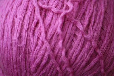 A macro photo of wool ball Stock Photo