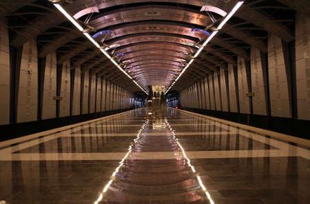 A photo of underground train station