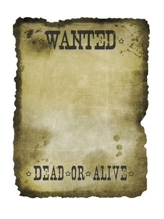 Old paper dead or alive vintage texture Stock Photo