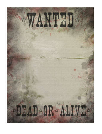 Old paper texture with blood drops (Wanted)