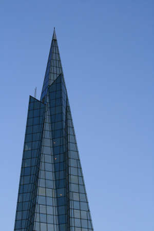 A high modern glass building
