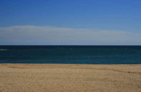 Sky, sea and sand coast