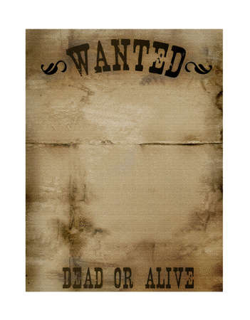 Bounry Hunter Notice Paper Stock Photo