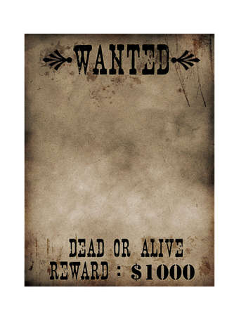 bounty: Sherrif Aviso papel (Bounty Hunter)