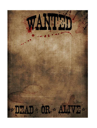 Wanted dead or alive sign paper