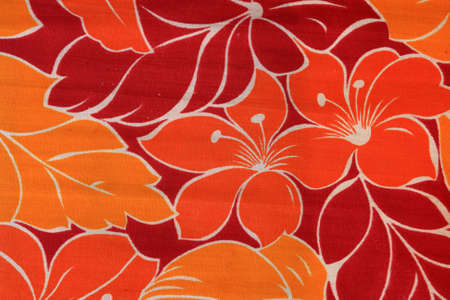 Floral background on a textile
