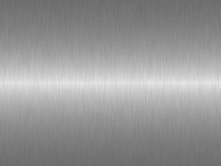 brushed aluminium: Silver metal background Stock Photo