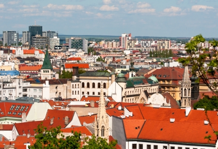 Bratislava skyline with roof toops