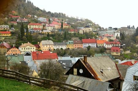 Ville de Banska Stiavnica, Slovaquie sous la pluie