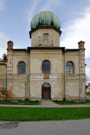damaged roof: Old synagogue in Brezno, Slovakia