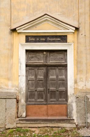古い教会の扉