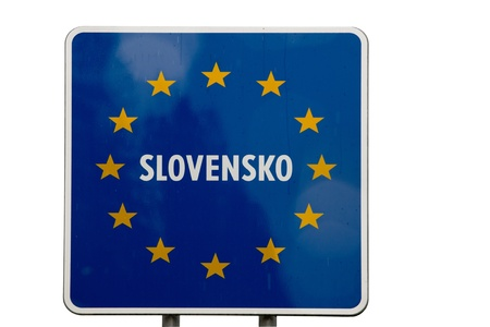 Welcome sign to Slovakia