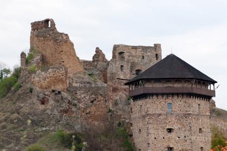 Les ruines du ch�teau de Filakovo, la Slovaquie Banque d'images