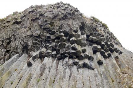 geological formation: Balsatic pentagonal columns - geological formation of volcanic origin